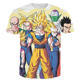 DBZ Goku Vegeta Super Saiyan Krillin Piccolo All Heroes Vibrant Design T-Shirt