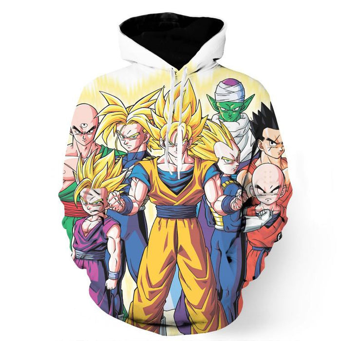 DBZ Goku Vegeta Trunks Super Saiyan Human Heroes Piccolo Namek Hoodie