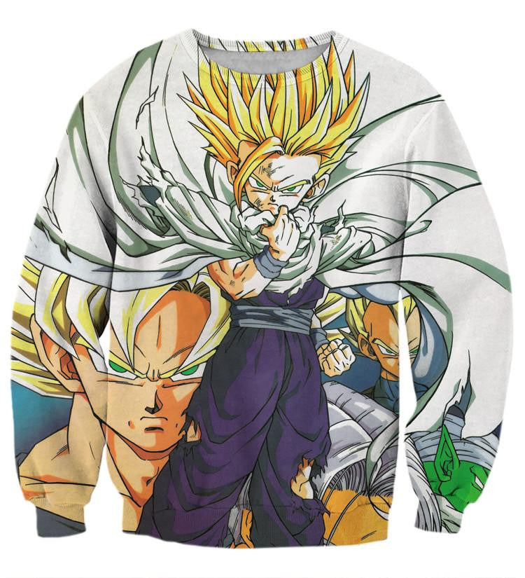 DBZ Gohan Super Saiyan Young Hero Cape Streetwear Cool Design Sweatshirt