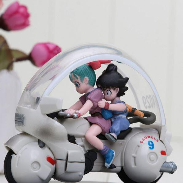 DBZ Kid Goku Bulma Riding Motorcycle PVC Action Figure 8cm - Saiyan Stuff
