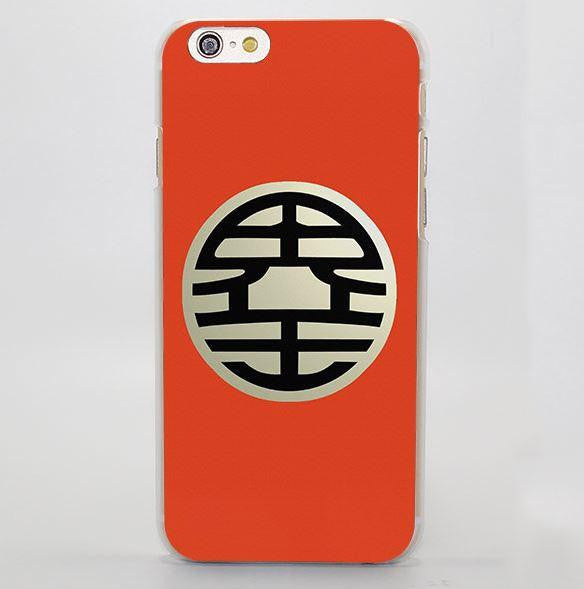DBZ King Kai Kanji Symbol Simple Design iPhone 4 5 6 7 Plus Case