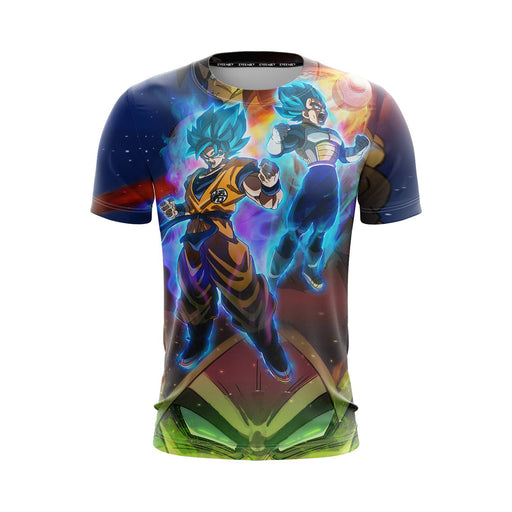 DBZ Legendary Broly Son Goku Vegeta Super Saiyan Blue T-Shirt