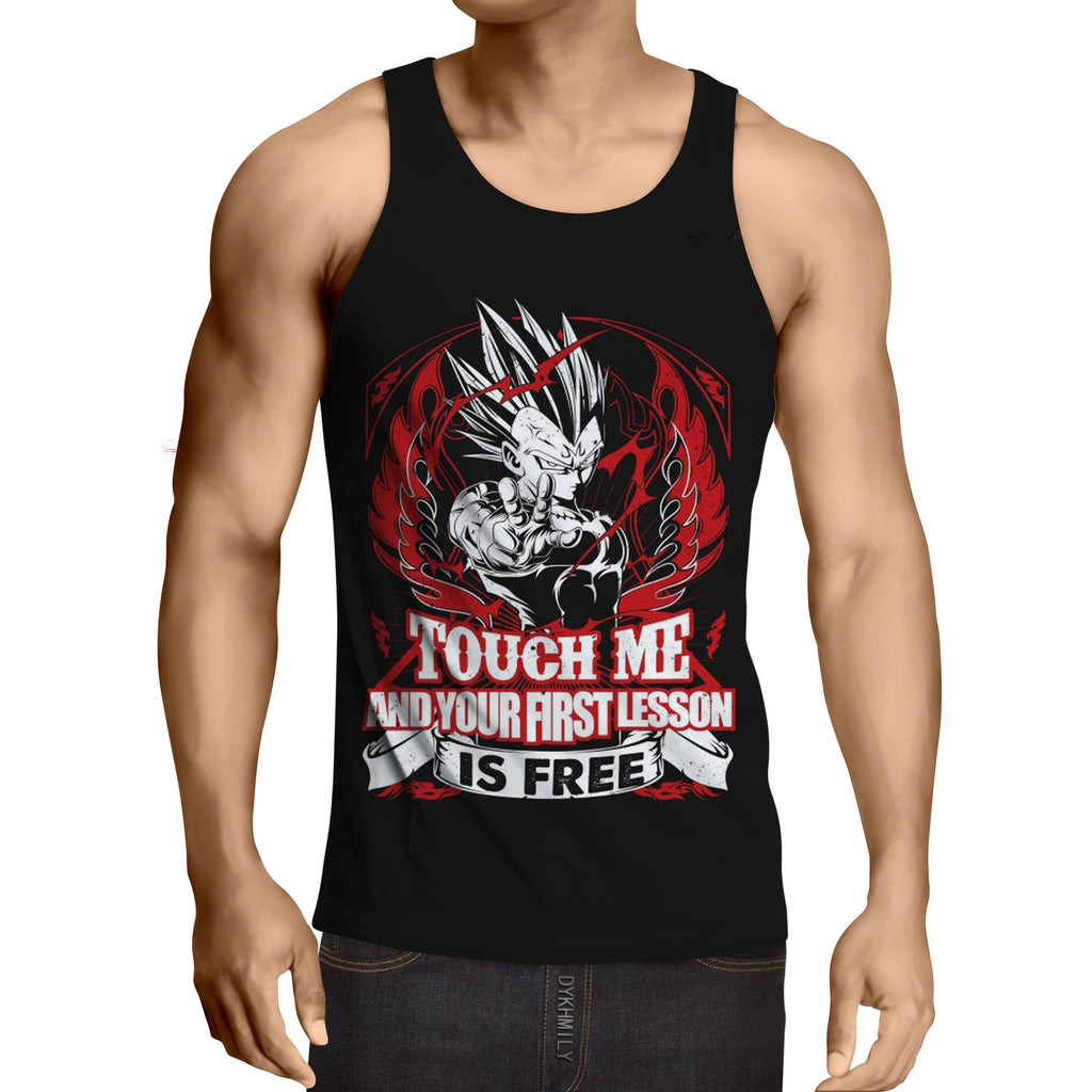 DBZ Majin Vegeta Super Saiyan Dope Quote Design Tank Top