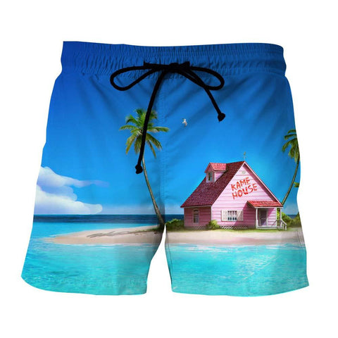 DBZ Master Roshi's Kame House Relax Vibe Concept Graphic Shorts
