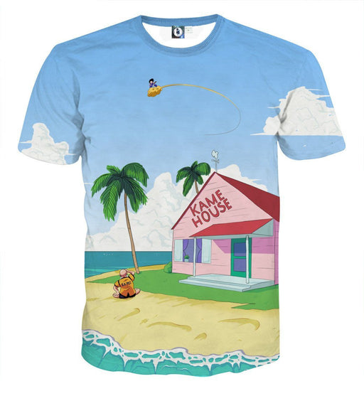 DBZ Master Roshi's Kame House Sketching Art Summer T-Shirt