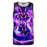 DBZ Mighty Destruction God Beerus Egyptian Cat Sport Basketball Tank Top