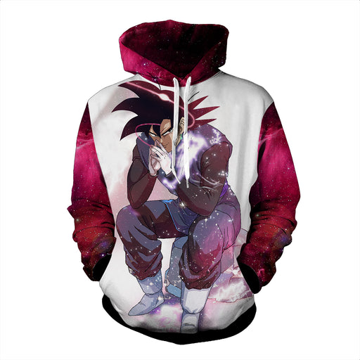 DBZ Son Goku Black Sitting Position On A Rock Hoodie