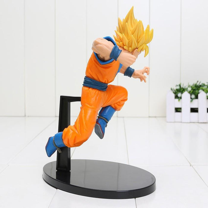 DBZ Son Goku Super Saiyan 2 Rigid Yellow Hair Transformation Action Figure - Saiyan Stuff - 2