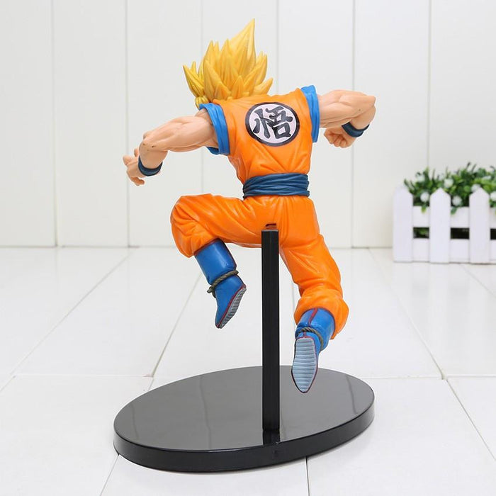 DBZ Son Goku Super Saiyan 2 Rigid Yellow Hair Transformation Action Figure - Saiyan Stuff - 3