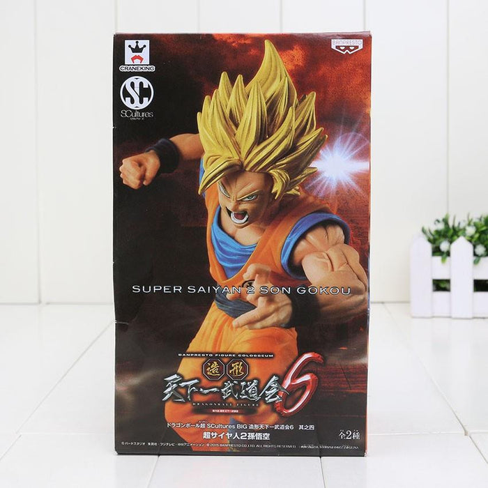 DBZ Son Goku Super Saiyan 2 Rigid Yellow Hair Transformation Action Figure - Saiyan Stuff