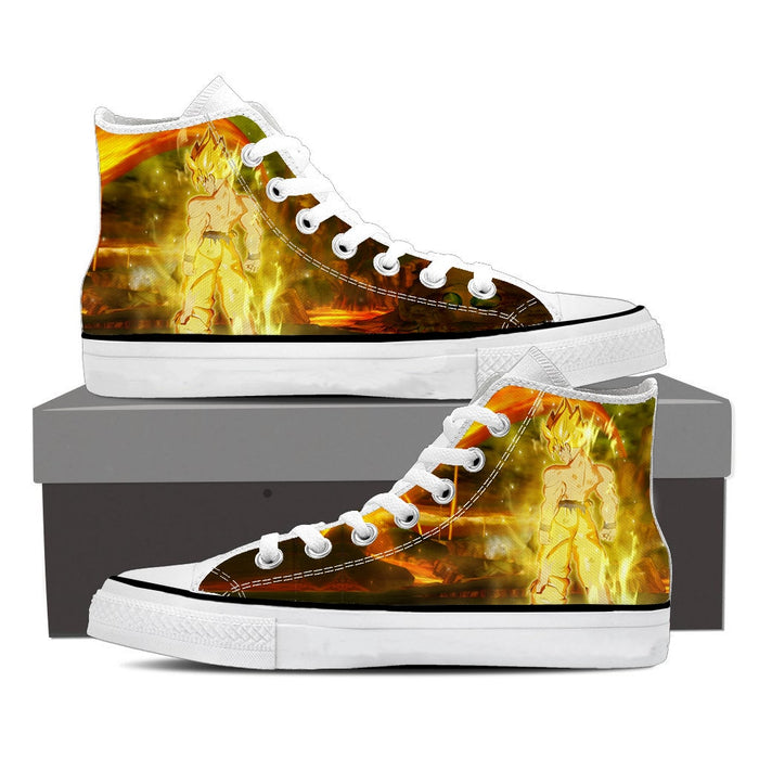 DBZ Son Goku Super Saiyan Supreme Gold Aura Epic Sneaker Shoes