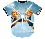 DBZ Super Saiyan Trunks Goten Kids Fight Battle 3D Hip Hop Baseball Jersey - Saiyan Stuff - 2