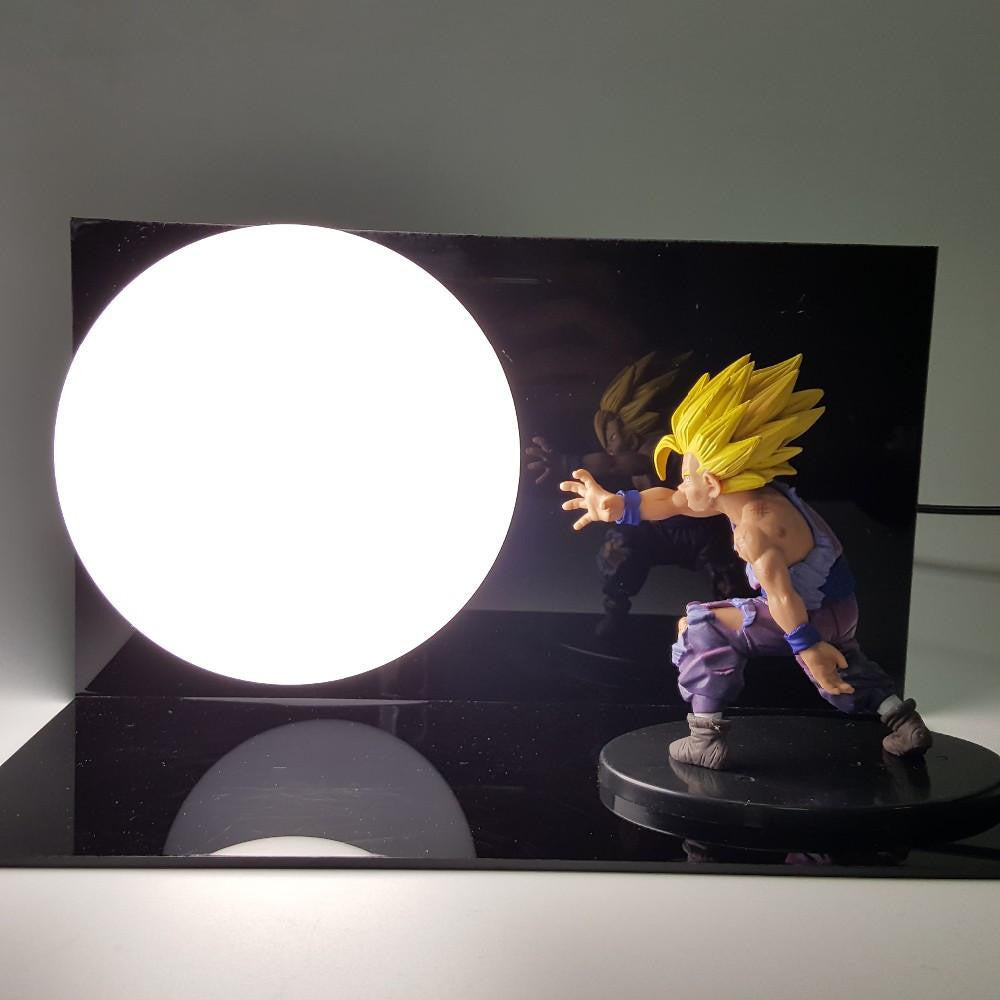 DBZ Super Saiyan Son Gohan Battle Kamehameha Kaioken DIY Lamp - Saiyan Stuff - 1