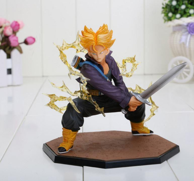 DBZ Super Saiyan Trunks Battle Version Action Figure 6' 14cm - Saiyan Stuff
