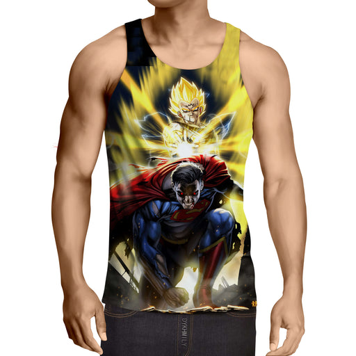 DBZ Super Yellow Majin Vegeta Superman Epic Battle Tank Top