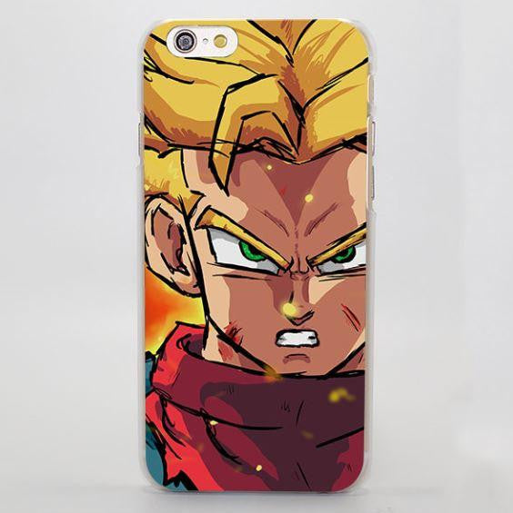 DBZ Trunk Super Saiyan Young Fighter iPhone 4 5 6 7 Plus Case