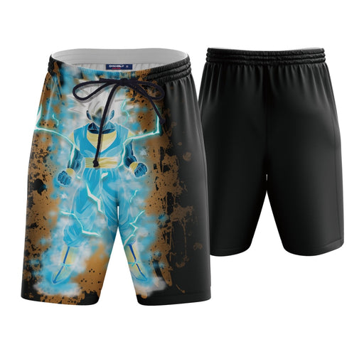 DBZ Ultra Instinct Vegito Black Boardshorts Swim Trunks