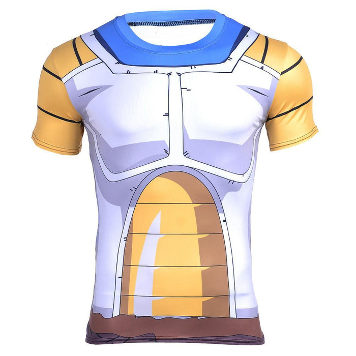 DBZ – Vegeta Cell Saga Battle Saiyan Armor 3D Gym Compression T-Shirt