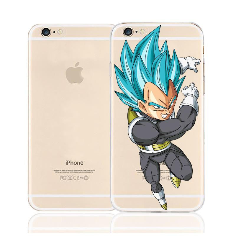 DBZ Vegeta Saiyan God Blue SSGSS Character Back Cover for iPhone 6 6s Plus