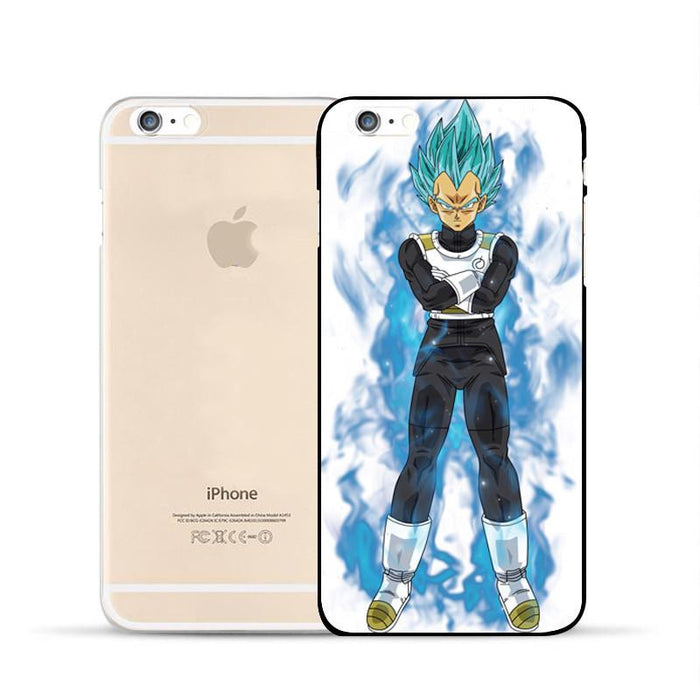 DBZ Vegeta Saiyan God Blue SSGSS Whis Symbol Armor iPhone 5 6 7 s Plus Case