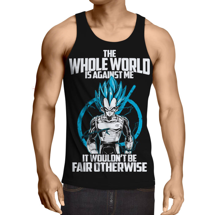 DBZ Vegeta Whis Symbol SSGSS Dope Quotes Design Tank Top
