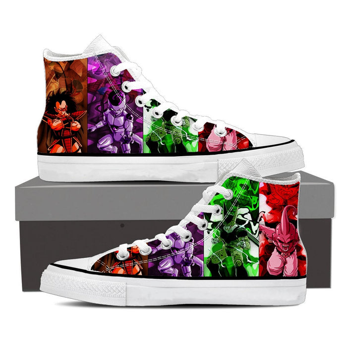 DBZ Villain Frieza Raditz Cell Buu Epic Sneaker Shoes