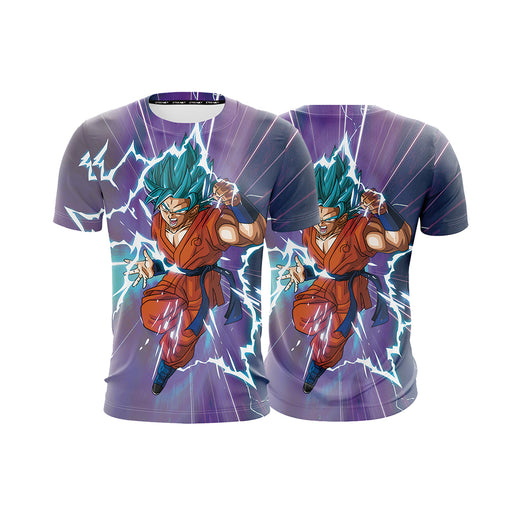 Dragon Ball Hero Super Saiyan Blue SSGSS Goku 3D T-shirt