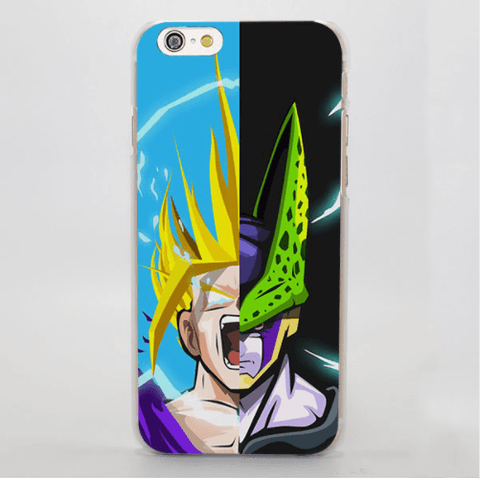 Dragon Ball Angry Gohan Powerful Cell Half Face Portrait iPhone 4 5 6 7 Plus Case