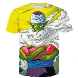 Dragon Ball Angry Piccolo Standing And Ready for Fighting T-Shirt