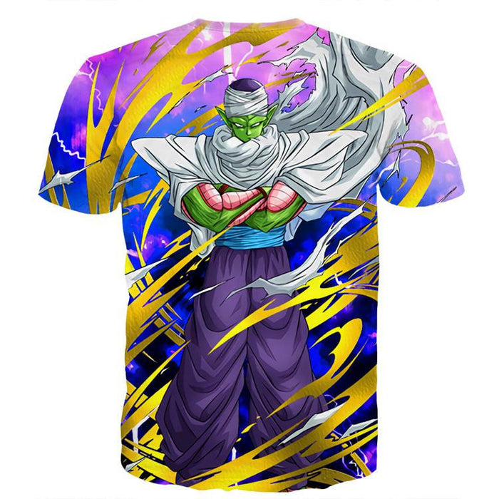 Dragon Ball Angry Piccolo Waiting Fight Aura Yellow Fashion T-Shirt