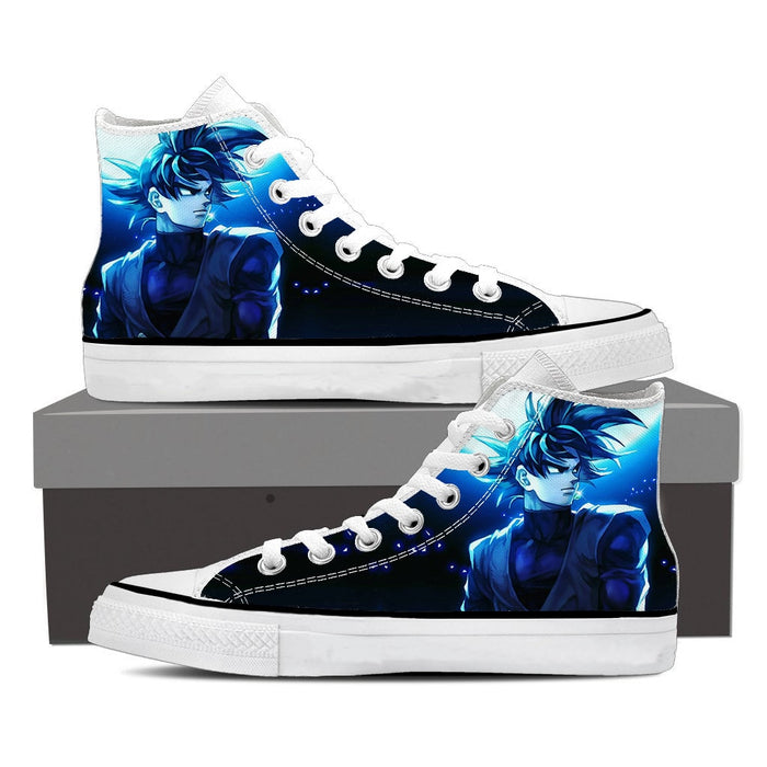 Dragon Ball Black Goku Cool Night Blue Moon Sneaker Shoes