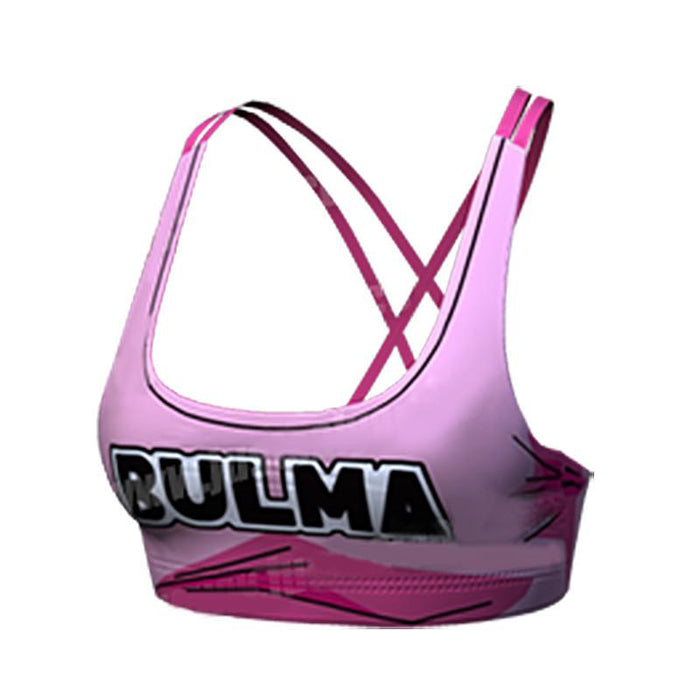 Dragon Ball Bulma 97 Pink Cosplay Gym Workout Compression Sports Bras - Saiyan Stuff