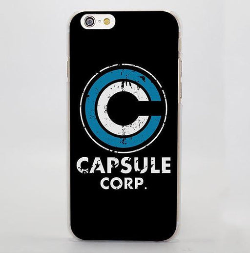Dragon Ball Capsule Corp Logo Simple Design iPhone 4 5 6 7 Plus Case