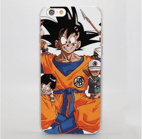 Dragon Ball Childish Goku Lovely Portrait Print iPhone 4 5 6 7 Plus Case