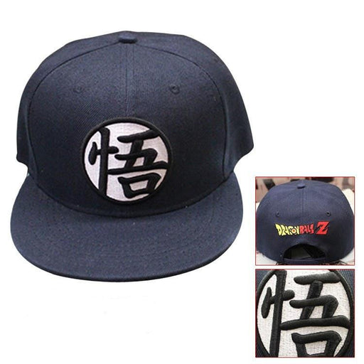 Dragon Ball Cool Black Goku Hip Hop Snapback Hat Cap - Saiyan Stuff