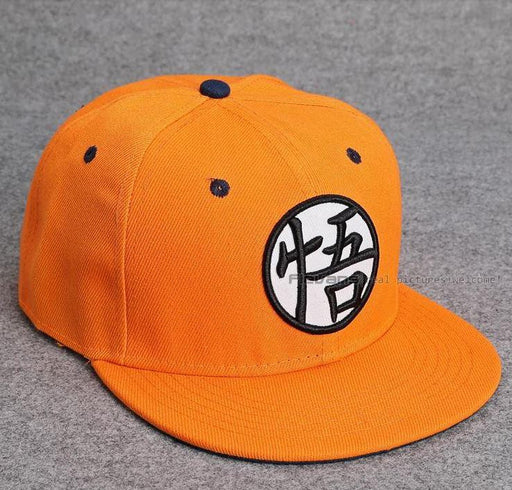 Dragon Ball Cool Orange Goku Hip Hop Snapback Hat Cap - Saiyan Stuff