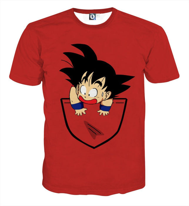 8f72d44eb Dragon Ball Cute Goku Kid Pocket Simple Design Streetwear T-Shirt — Saiyan  Stuff
