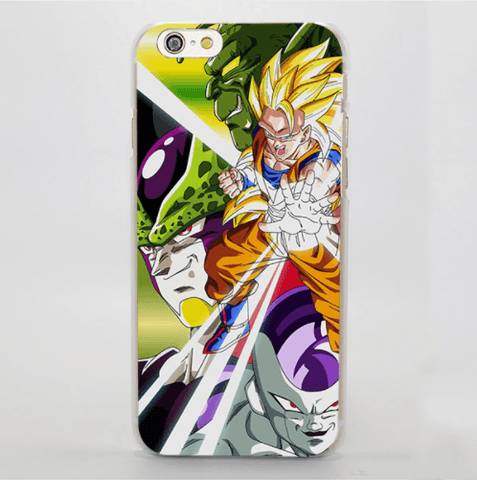 Dragon Ball Energetic Goku SS1 Cell Portrait iPhone 4 5 6 7 Plus Case
