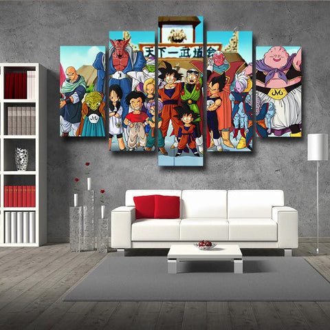 Dragon Ball Fighter Kami Saiyan DBZ 5pc Wall Art Decor Posters Canvas Prints
