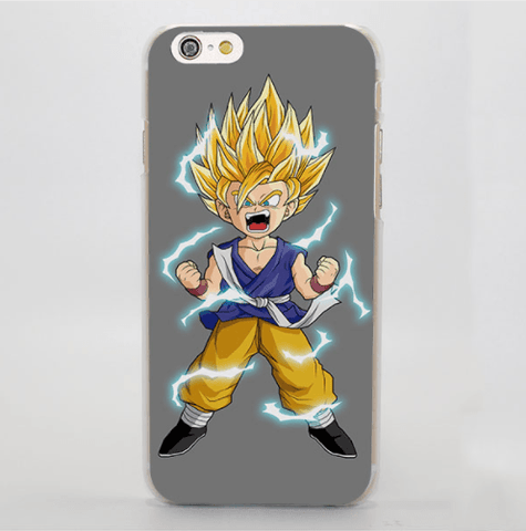 Dragon Ball Furious Kid Goku Portrait Chibi Art Style iPhone 4 5 6 7 Plus Case