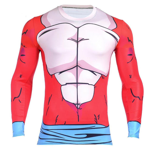 Dragon Ball GT Goku 3D Fitness Long Sleeves Compression T-shirt