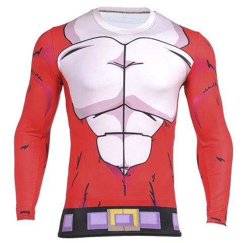 Dragon Ball GT Vegeta 3D Workout Long Sleeves Compression T-shirt