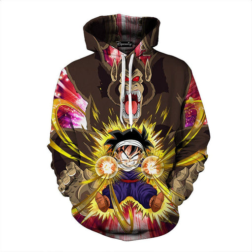 Dragon Ball Gohan Kid Great Ape Power Vibrant Trending Design Hoodie