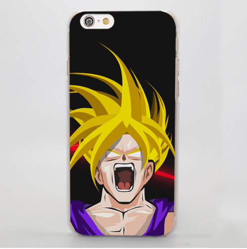 Dragon Ball Gohan Young Saiyan Water Color Portrait iPhone 4 5 6 7 Plus Case