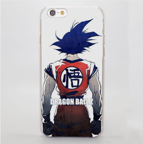 Dragon Ball Goku Back Posture Kanji Symbol Art iPhone 4 5 6 7 Plus Case