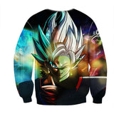 Dragon Ball Goku Black Fusion Zamasu Evil Villain Graphic Print Sweatshirt