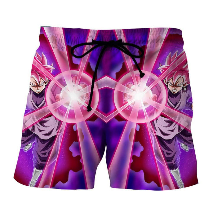 Dragon Ball Goku Black Rose Super Saiyan Ki Blast Reflection Style Shorts