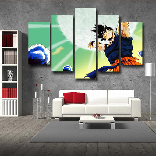Dragon Ball Goku Bomb Destruction Skill 5pc Wall Art Decor Posters Canvas Prints