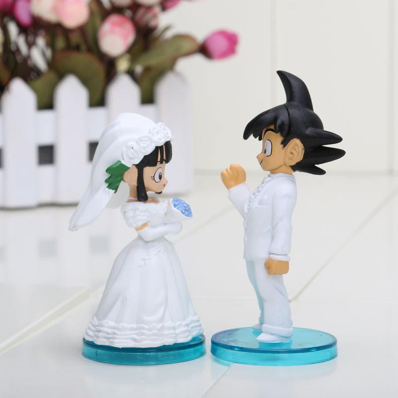 Dragon Ball Goku Chi-Chi Wedding PVC Figure Toys 8cm 3inch Set 2Pcs -  - 1