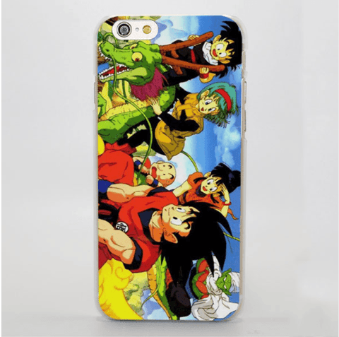 Dragon Ball Goku Chichi Bulma Gohan Piccolo Shenron Manga iPhone 4 5 6 7 Plus Case